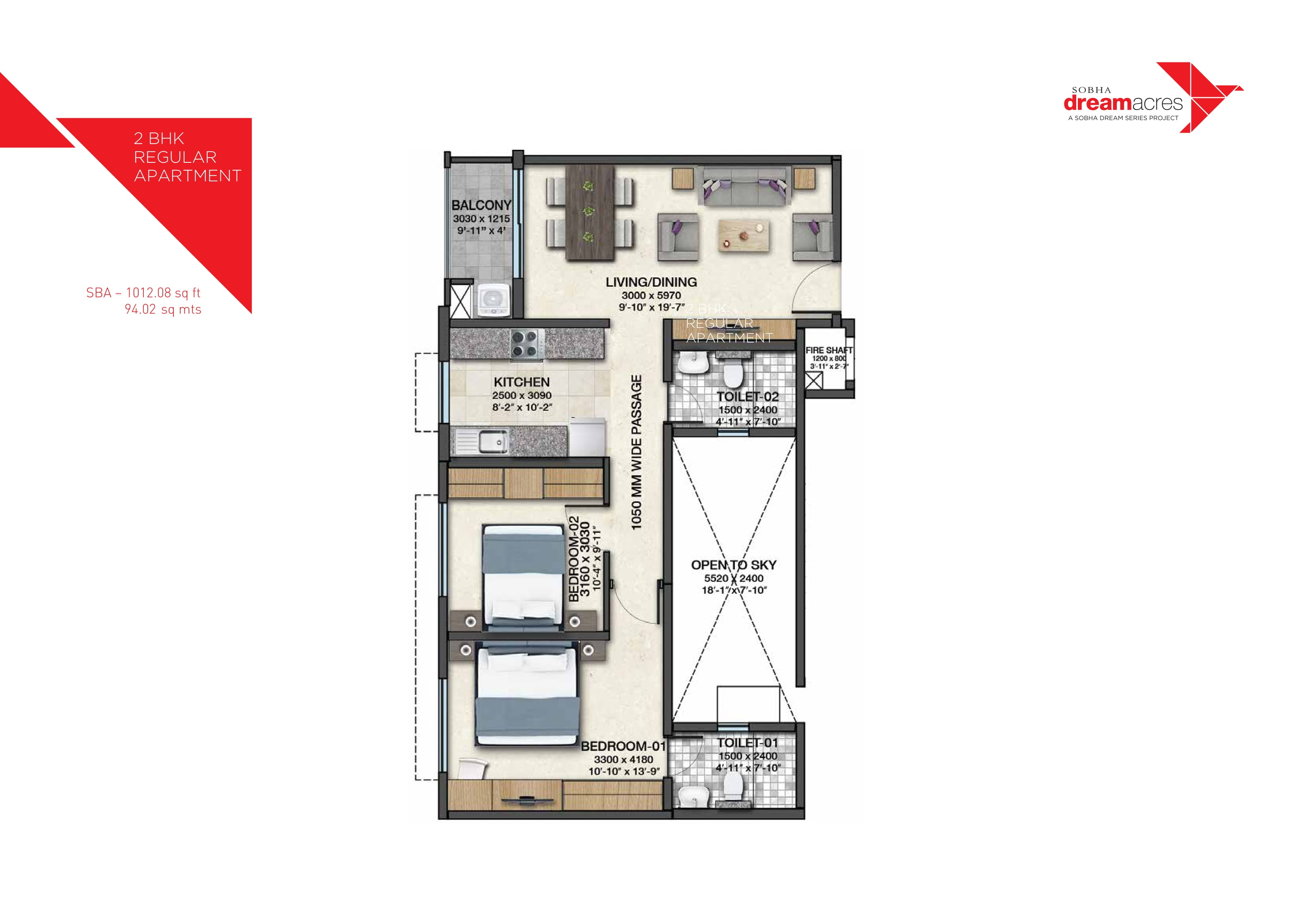 Sobha Dream Acres Floor Plan