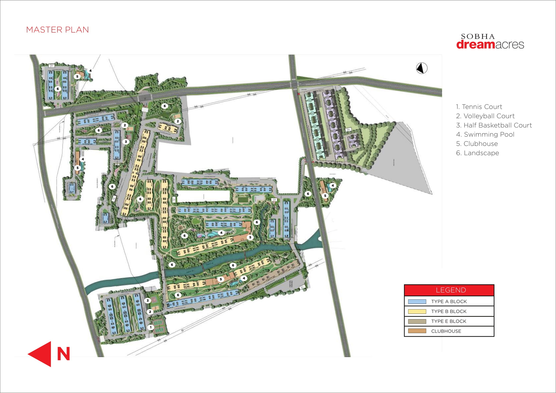 Sobha Dream Acres Master Plan